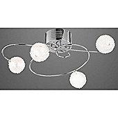 Home Essence Slam 4 Light Semi-Flush Ceiling Light in Chrome