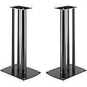 Pair of Black Mountech Speaker Stands 586mm high