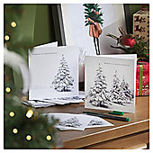 Photographic Tree Christmas Cards, 10 pack