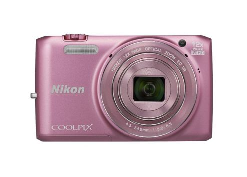 Nikon Coolpix S6800 Digital Camera, Pink, 16MP, 12x Optical Zoom, 3