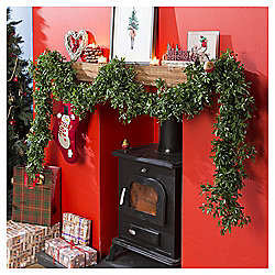Weiste Green Mistletoe Christmas Garland, 2.7m