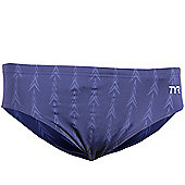 TYR Fusion Racer Swim Brief Navy