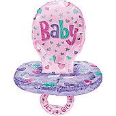 59' Girl Baby Pacifier Multi Balloon (each)