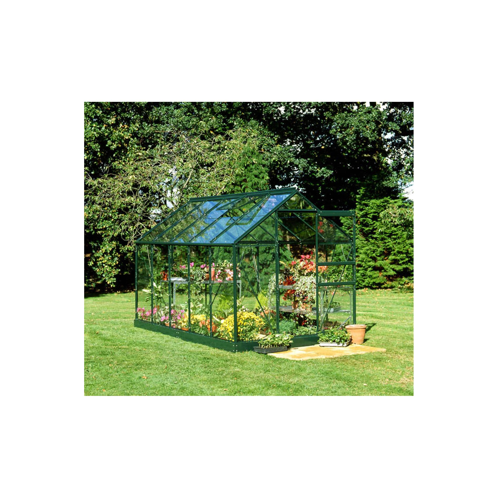Halls 10x6 Popular Greenframe Greenhouse + Base - Horticultural Glass at Tesco Direct
