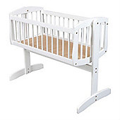 Kub Vagga Swinging Crib (White)
