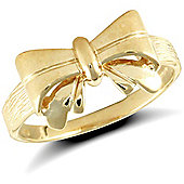 9ct Solid Gold Bow Ring