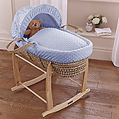 Clair de Lune Dimple Palm Moses Basket (Blue)