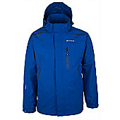 Cleggan Mens Waterproof Hooded Breathable Walking Hiking Rain Jacket Coat - Blue