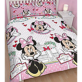 Minnie Mouse Double Bedding - Cafe