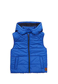 F&F Padded Hooded Gilet - Blue