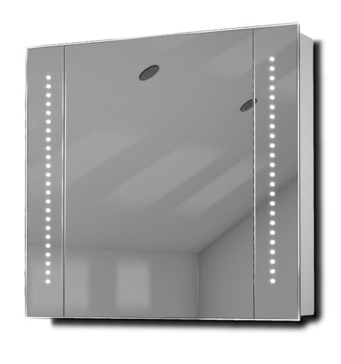 astound led illuminated bathroom mirror cabinet with sensor shaver