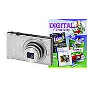 DS Canon Ixus 240 HS Camera Silver + Photoshop Elements 10
