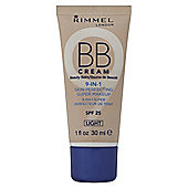 Rimmel London BB Cream 9-in-1 Skin Perfecting Super Makeup SPF 25 Light 30ml