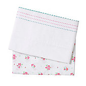 Mothercare Little Lane Cot/Cotbed Flat sheets - 2 Pack