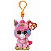 "Ty Beanie Boo Boos 3"" Key Clip - Fantasia the Unicorn"
