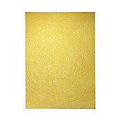 Esprit Colour in Motion Yellow Contemporary Rug - 70cm x 140cm