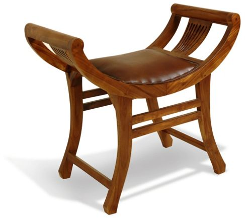 Oceans Apart Campaign Teak and Leather Kartini Single Bench