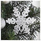 Tesco White Snowflake Hanging Decoration