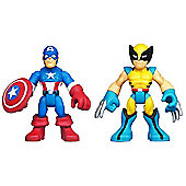 Playskool Heroes - 6cm Captain America and Wolverine Figures