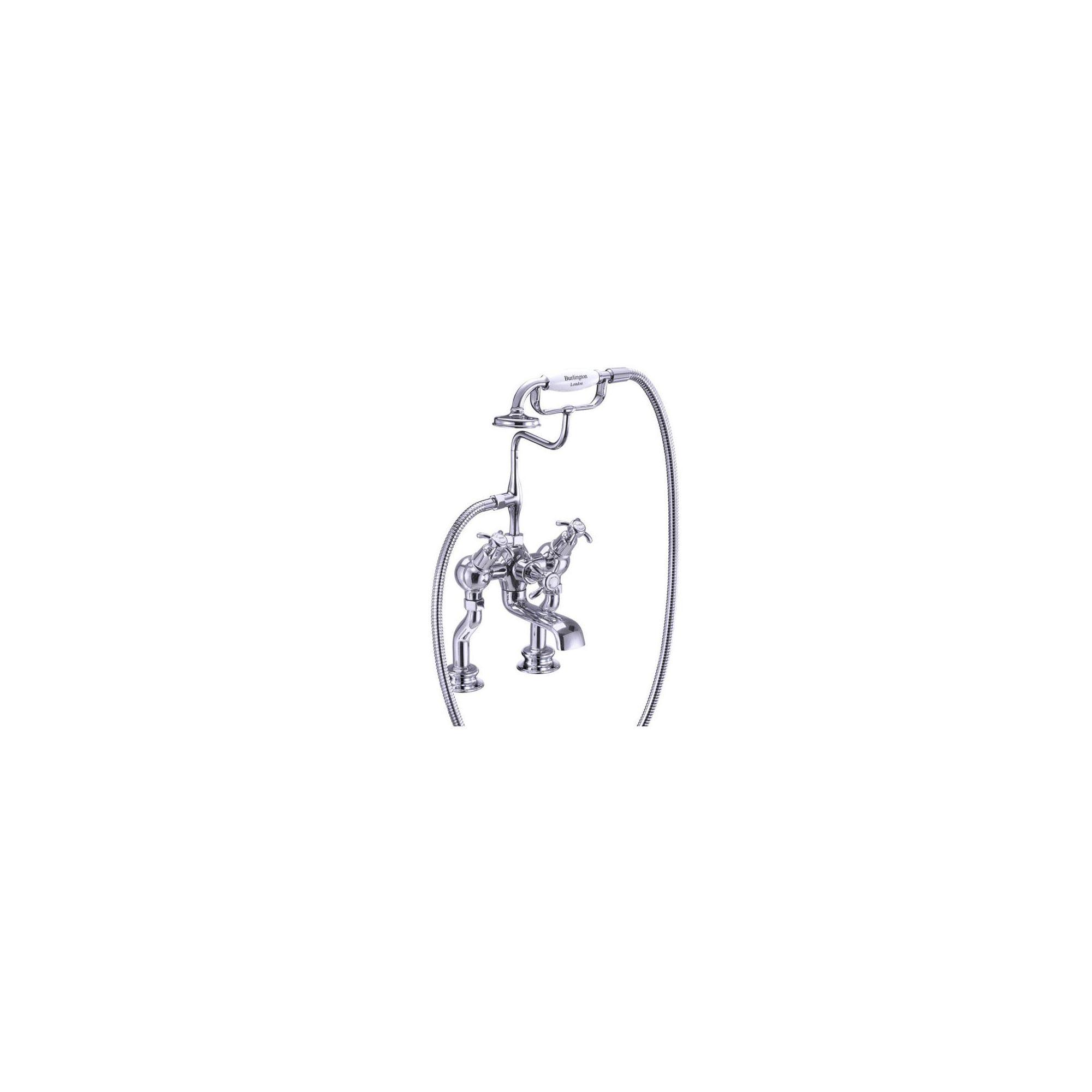Burlington Anglesey Regent Angled Bath Shower Tap, Pillar Mounted, Chrome at Tesco Direct
