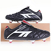Hi-Tec League Pro Screw-in Junior Football Boots Black/White/Red - 6