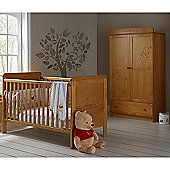 Obaby Winnie the Pooh Cot Bed and Double Wardrobe