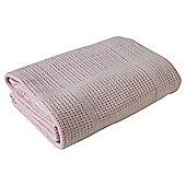 Clair de Lune Cellular Pram Blanket (Pink)