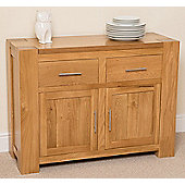 Kuba Chunky Solid Oak Small Sideboard