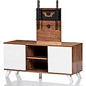 UKCF Madrid Oak and White TV Stand for up to 52 inch TVs