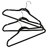 Flocked Coat Hangers, Pack of 3