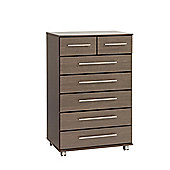 Ideal Furniture New York 2 Over 5 Drawer Chest - Wenge