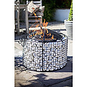 Natural Effect Firepit with cooking grill