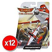 Disneys Planes Fire & Rescue Diecast Firefighter Dusty (Bulk value 12 pack)