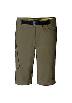Jack Wolfskin Mens Rock Shorts - Green