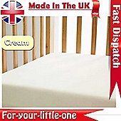 2x Cotton Jersey Fitted Sheet 120cm x 60cm Cream