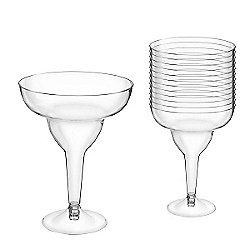 Clear Plastic Margarita Glasses - 295ml