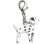 Diamante Dalmation 3D Clip on Charm