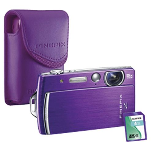 Fujifilm FinePix Z110 Digital Camera bundle with matching coloured case and 4GB memory card, Purple, 14MP, 5x Optical Zoom, 2.7 inch LCD screen