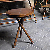 Oceans Apart Campaign Teak and Leather Low Wine Table