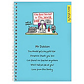 Personalised Purple Ronnie Male Teacher Notebook