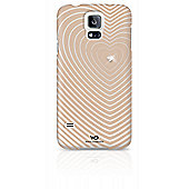 White Diamonds Heartbeat Clip Case for Galaxy S5