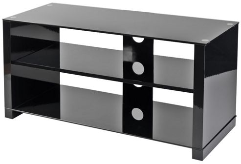 Reversible Black and Chrome TV Stand for up to 42 inch TVs