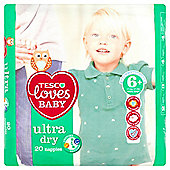 Tesco Loves Baby Ultra Dry Extra Large Plus Size 6+ - 20 Pack