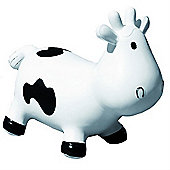 Betsy inflatable cow space hopper - white & black