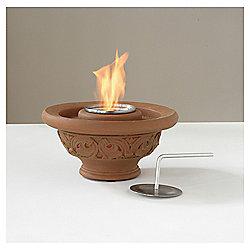 Ethanol Fire Bowl Table Top Heater, Terracotta 15x32cm