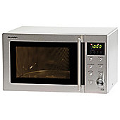 Sharp R28STM 23L Solo Microwave, Stainless Steel