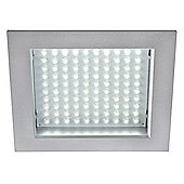 SLV Downlight with White LED Panel in Silver Grey