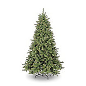 6ft Narvik Spruce with Gold Glitter Hook-On branches