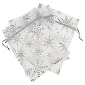 Silver Christmas Favour Bag, 3 pack