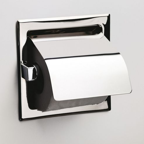 Sonia Recessed Toilet Roll Holder with Flap